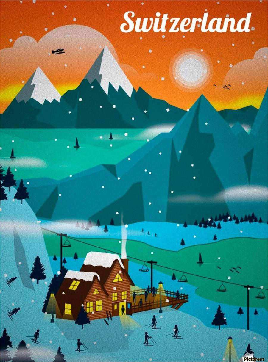 Visit Switzerland Vintage Travel Poster Vintage Poster