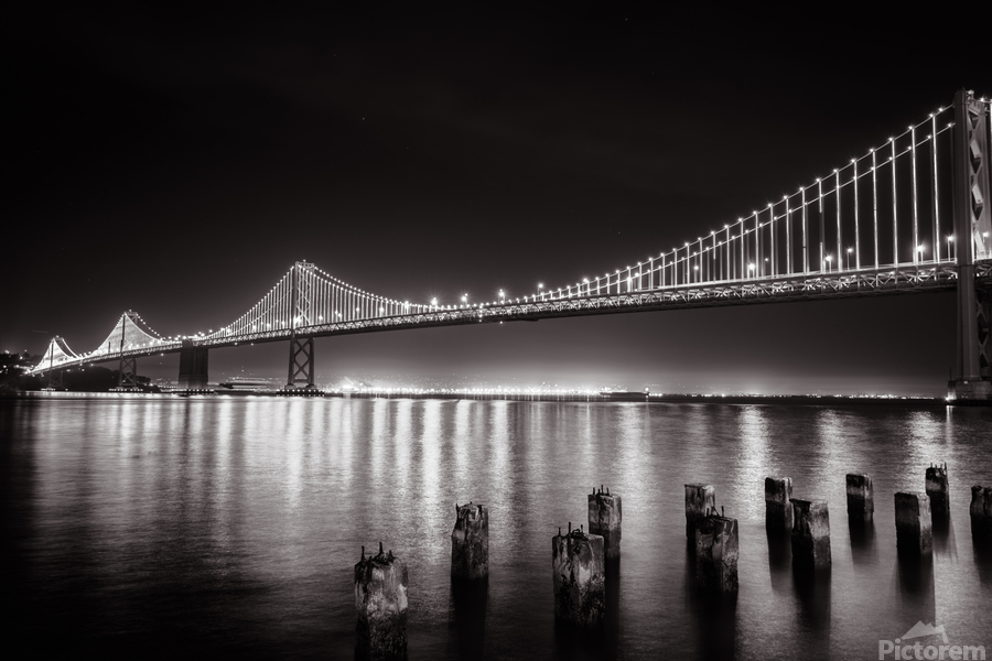 Bay Bridge Black & White  Print