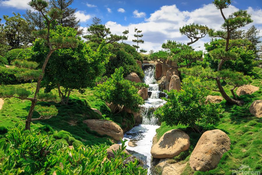 Garden Waterfall  Print