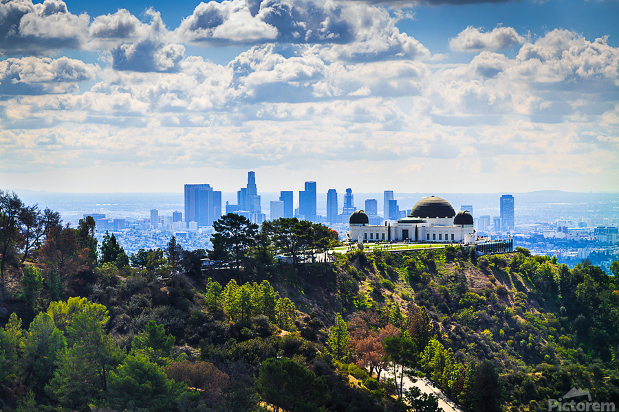 Overlooking Griffith Observatory  Print