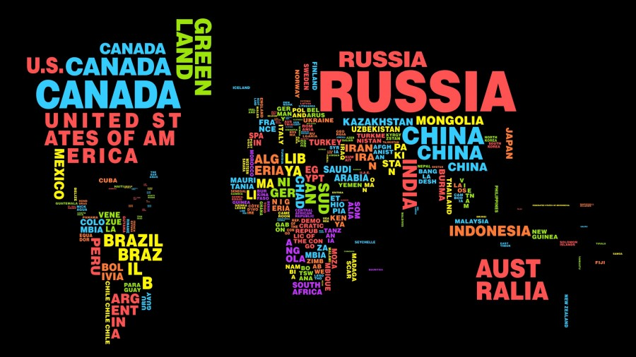 World Map Country Name WorldFlag Canvas - World map pic with country name