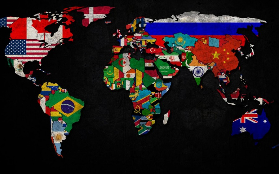 Map Of World Flags.World Map Country Flag Worldflag Canvas