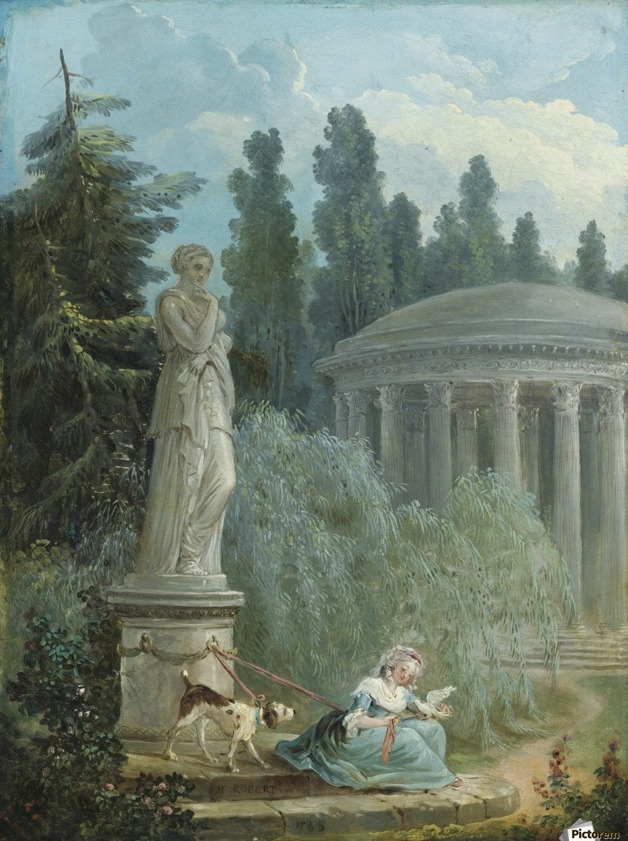 Young Girl Seated Near The Love Temple  Print