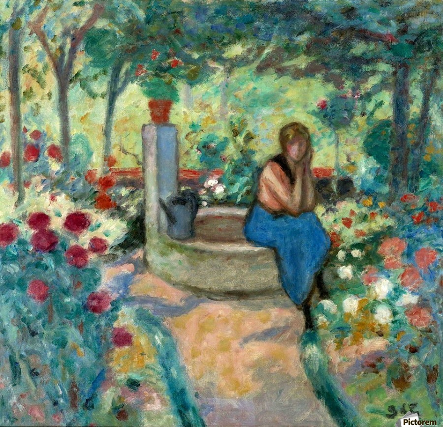 Young Girl near the Well  Print