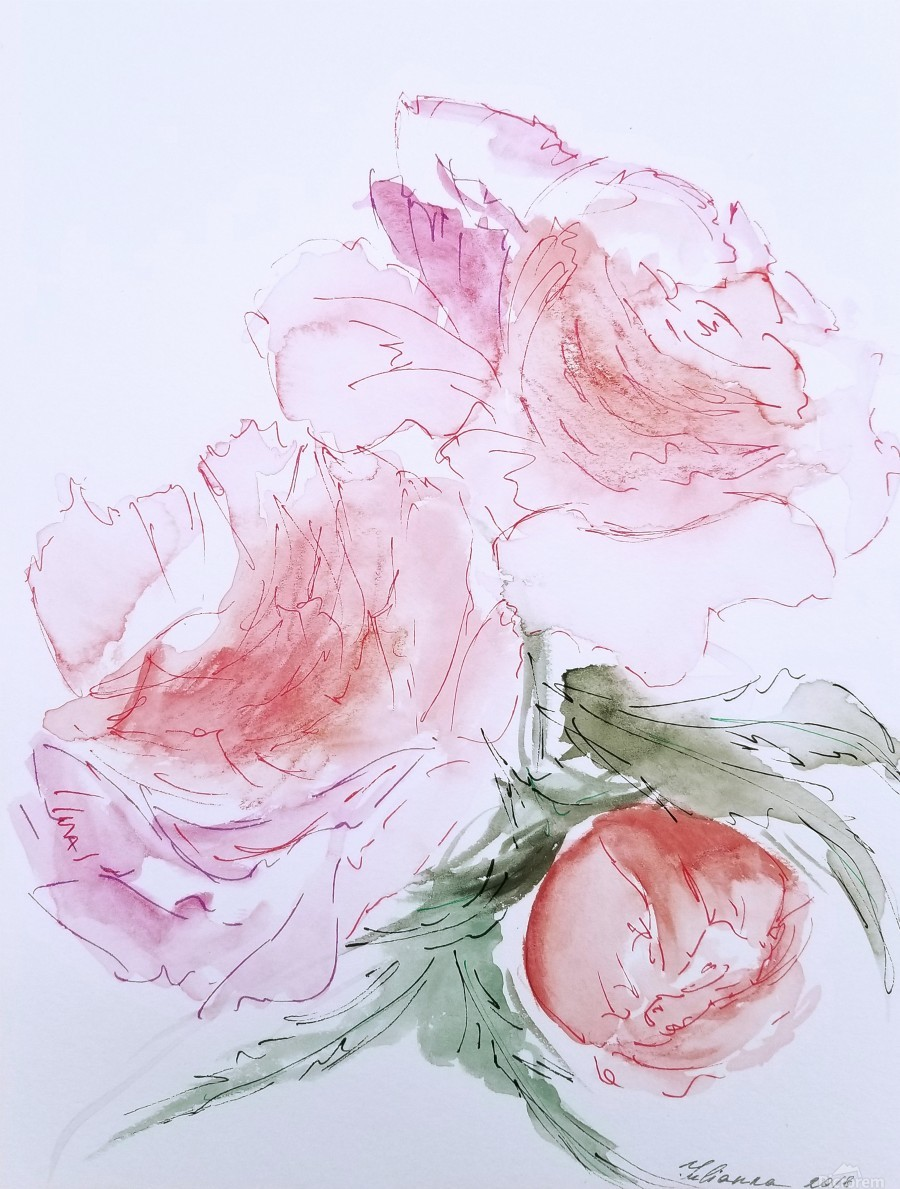 Flowers of Happiness  Print