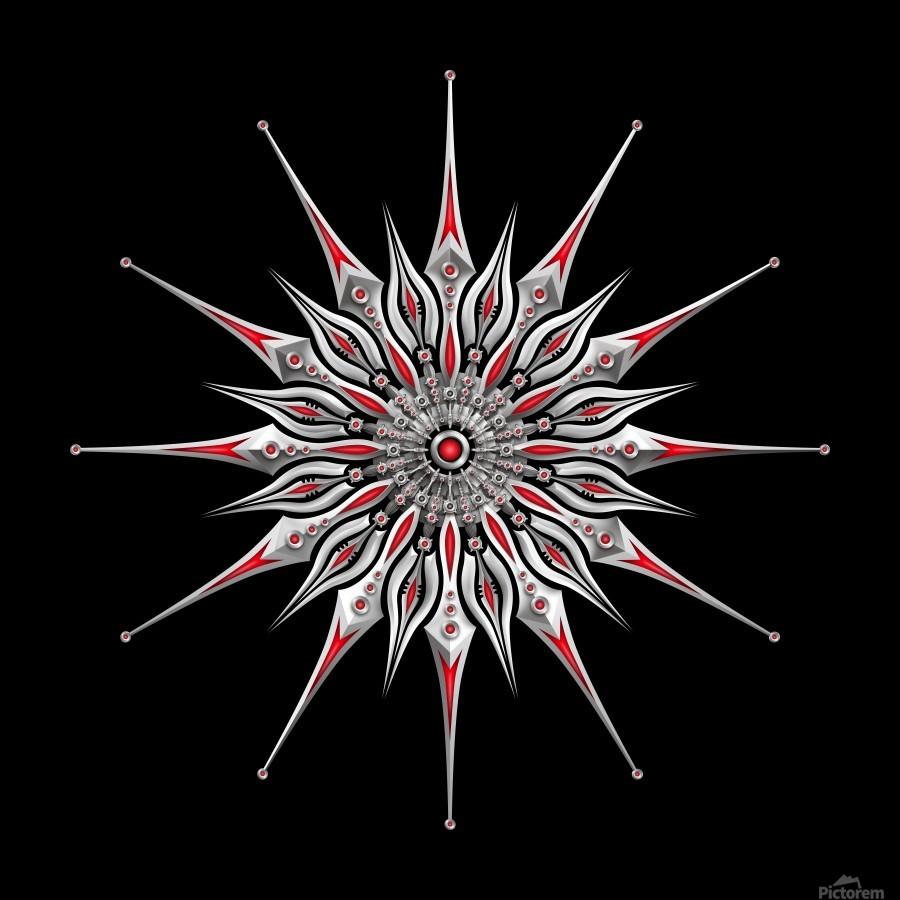 Starfish Fusion Mandala  Print