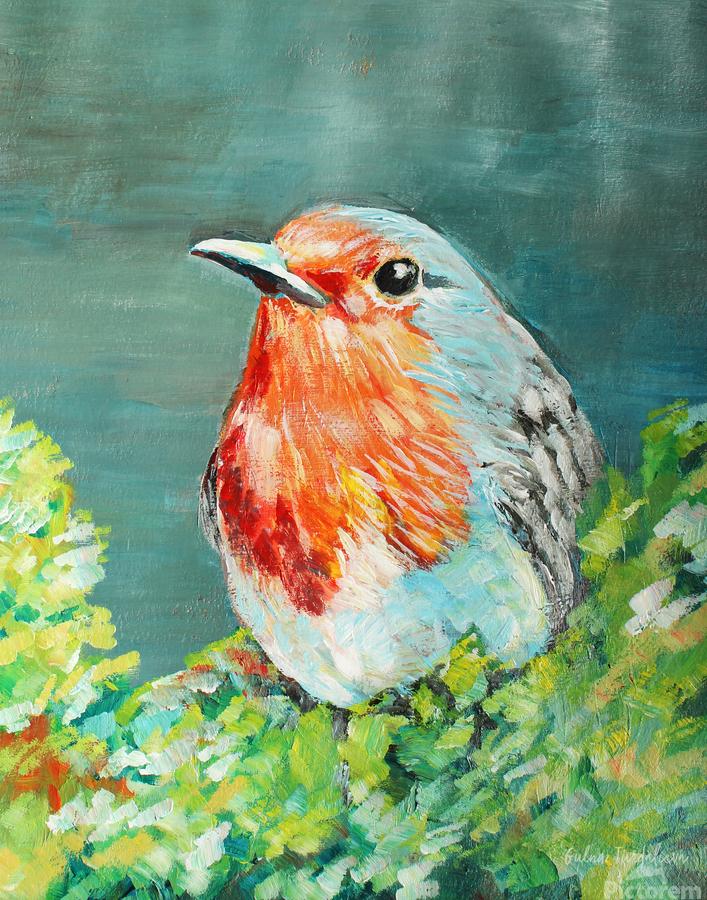 Bird Painting Robin  Print