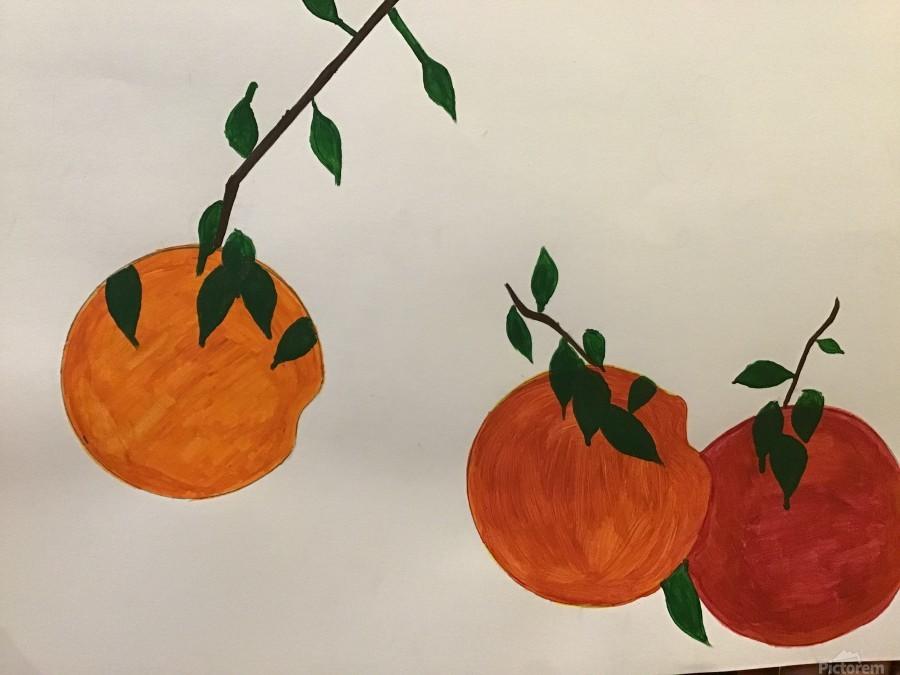 Orange You in Love  Print