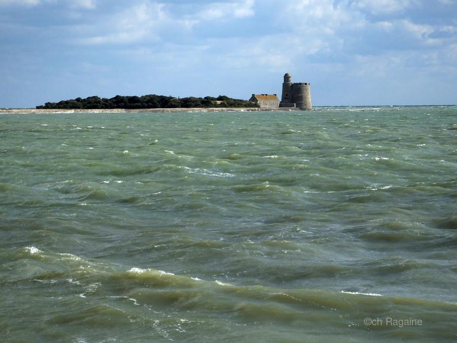 Vauban Tower on Tattihou island ile de Tattihou et sa tour Vauban  Print