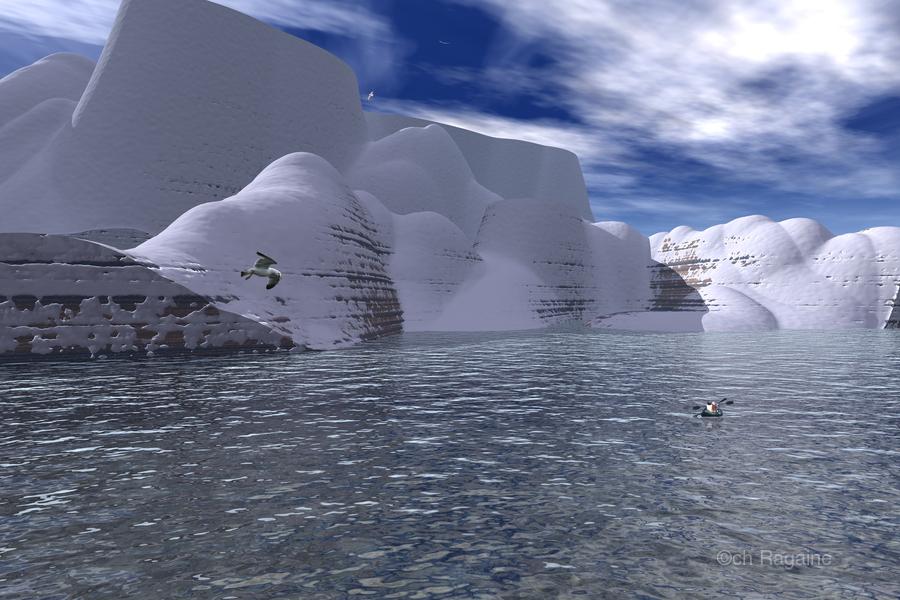 citadelle de glace  Print