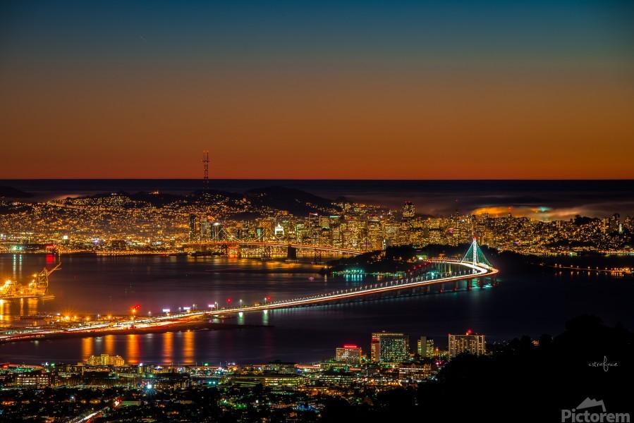 City to City - Berkeley to San Francisco  Print