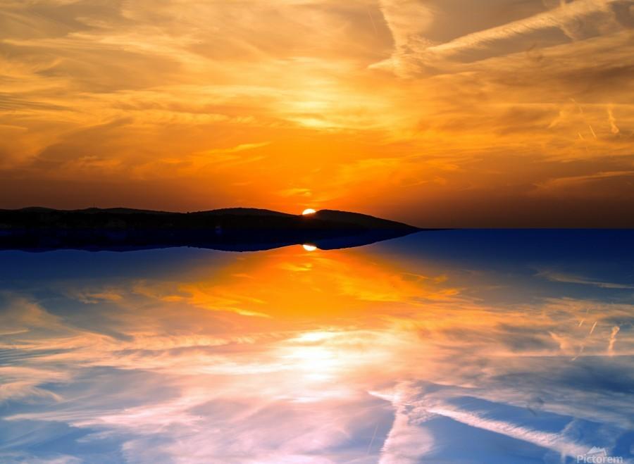 Beautiful Nature Landscape sunrise sunset sun Photography landscape photo Scenery  Print