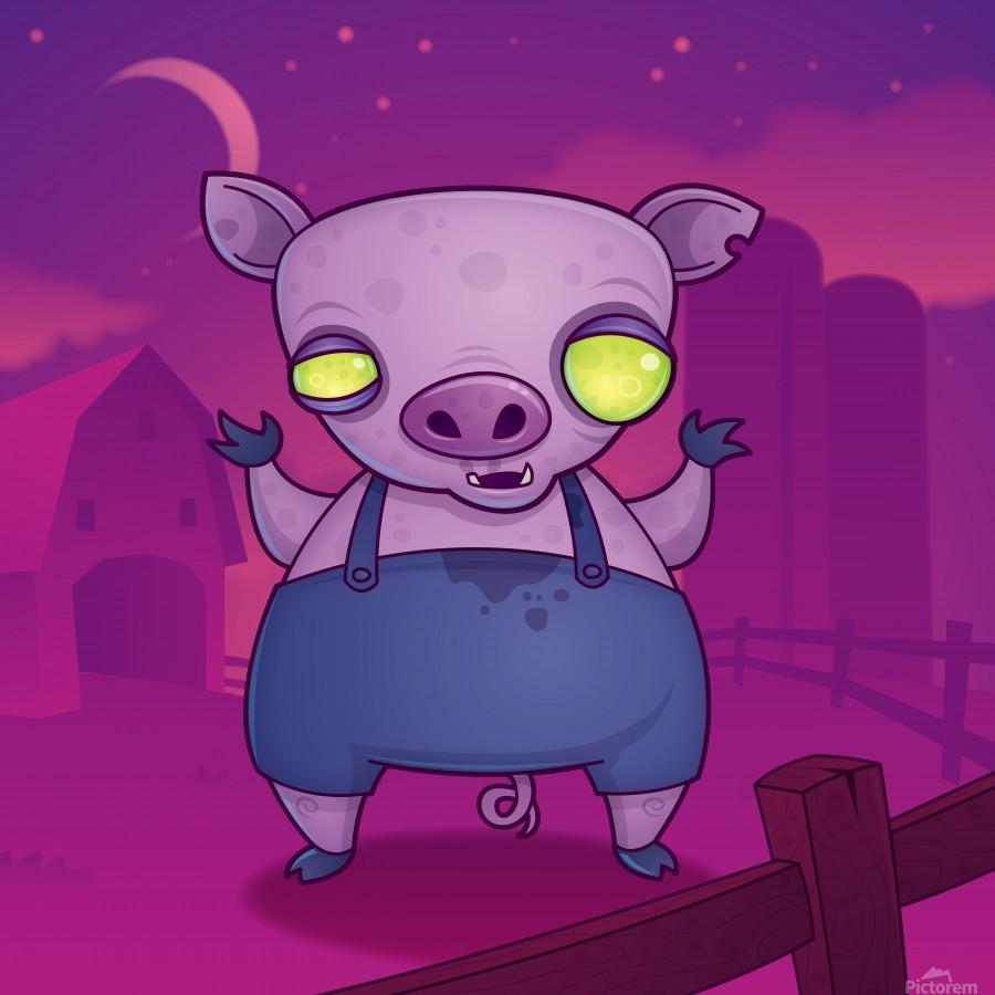 Zombie Pig  Print