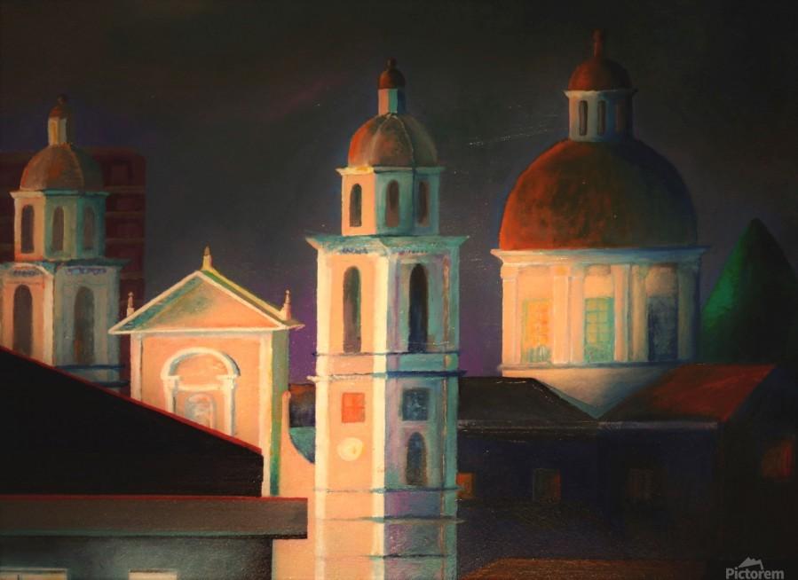 la basilica a Lavagna  Print