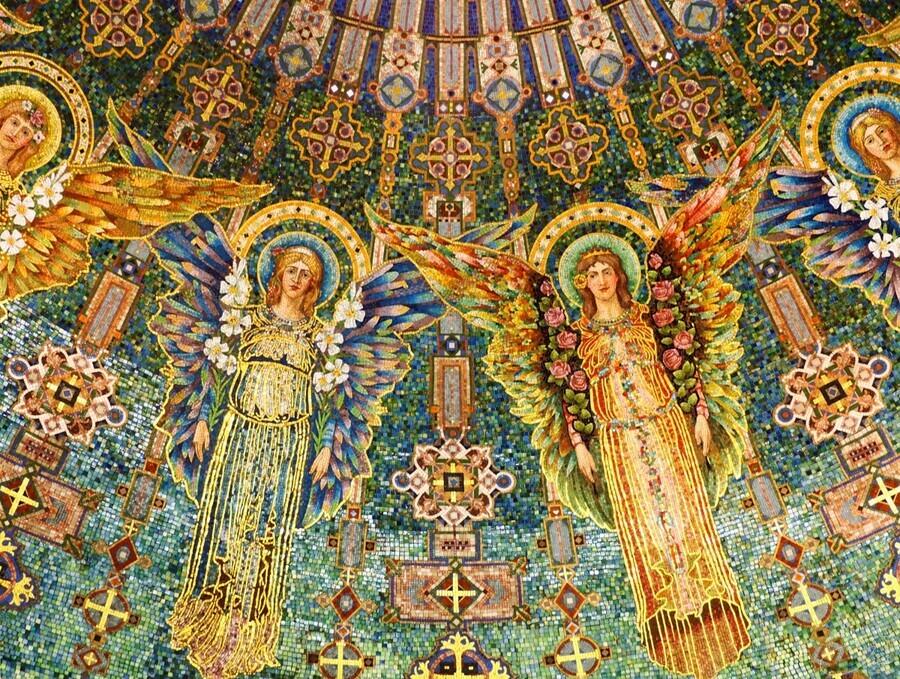 mosaic angels  Print