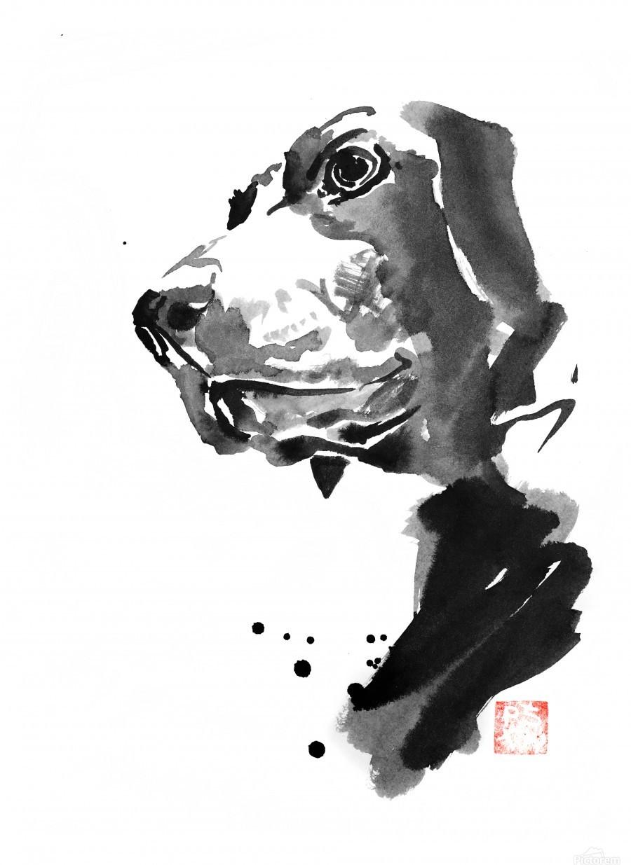 chien coin - pechane - Canvas Artwork