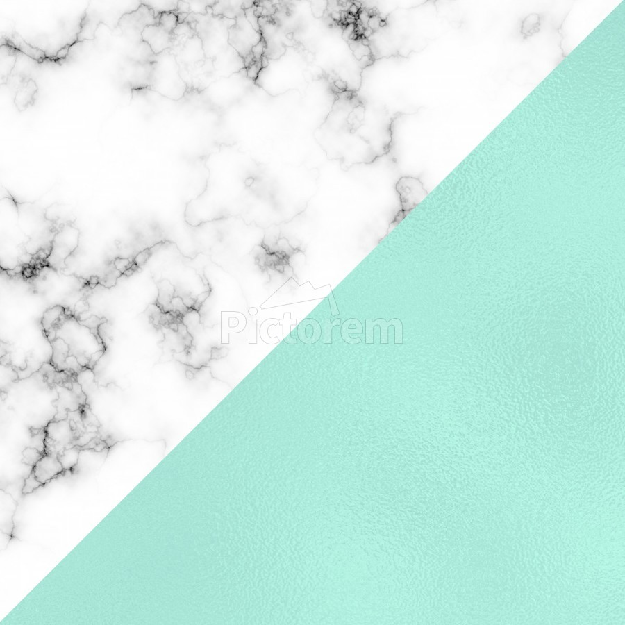 ABSTRACT MODERN TURQUOISE GLASS MARBLE  Print