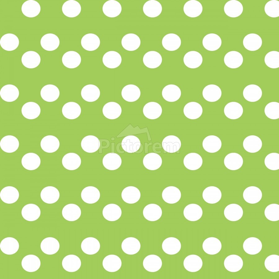 Dark Olive Green Polka Dots  Print