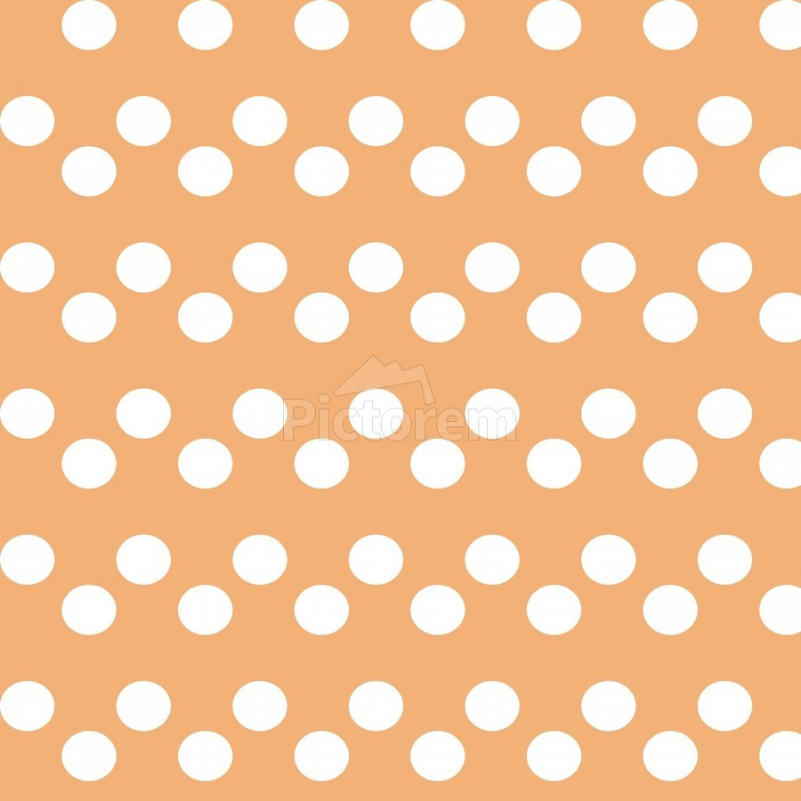 Sandy Brown Polka Dots  Print
