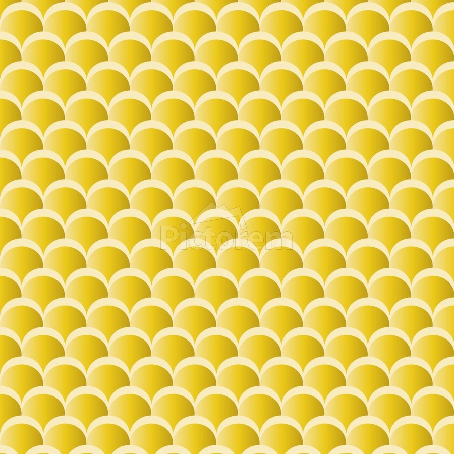 YELLOW MERMAID PATTERN  Print