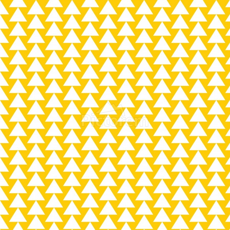 Yellow  White triangle  Print