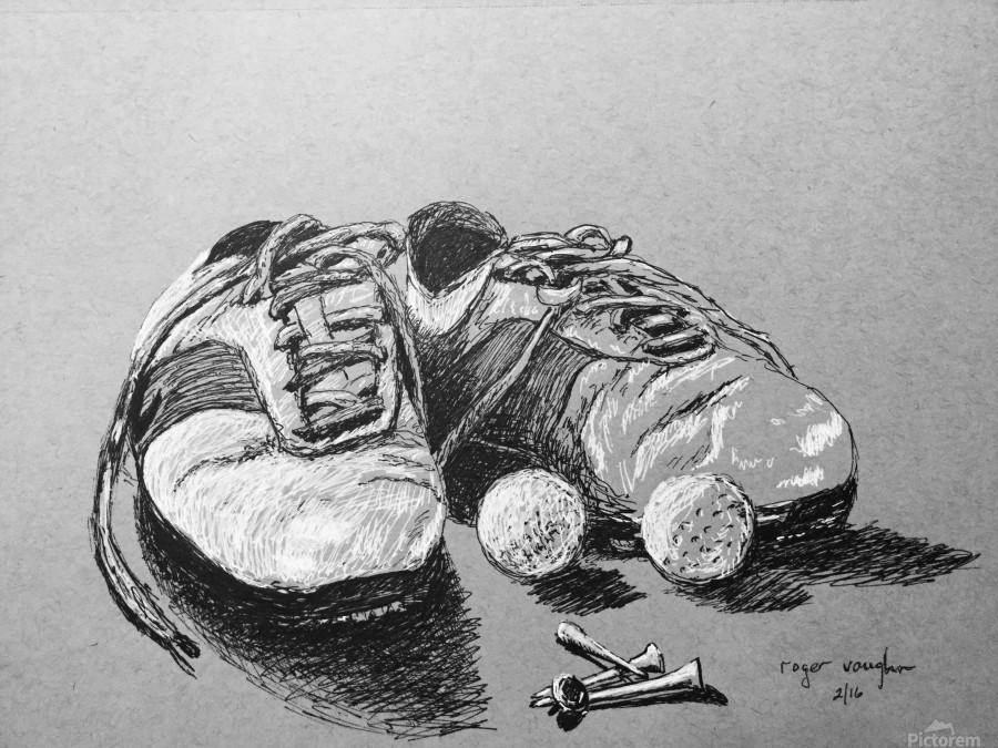 Tired  Nikes  Print