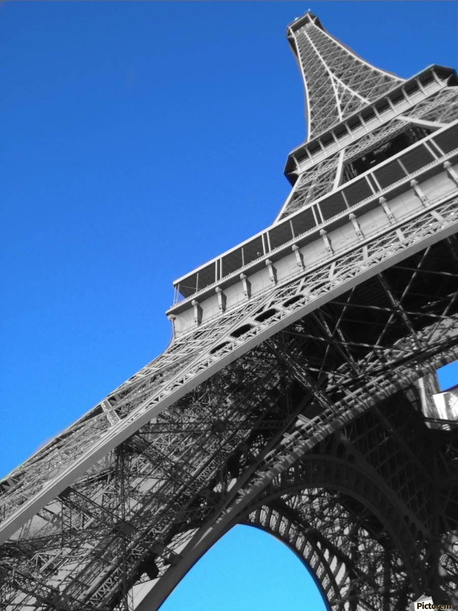 silver Eiffel tower Paris  Print