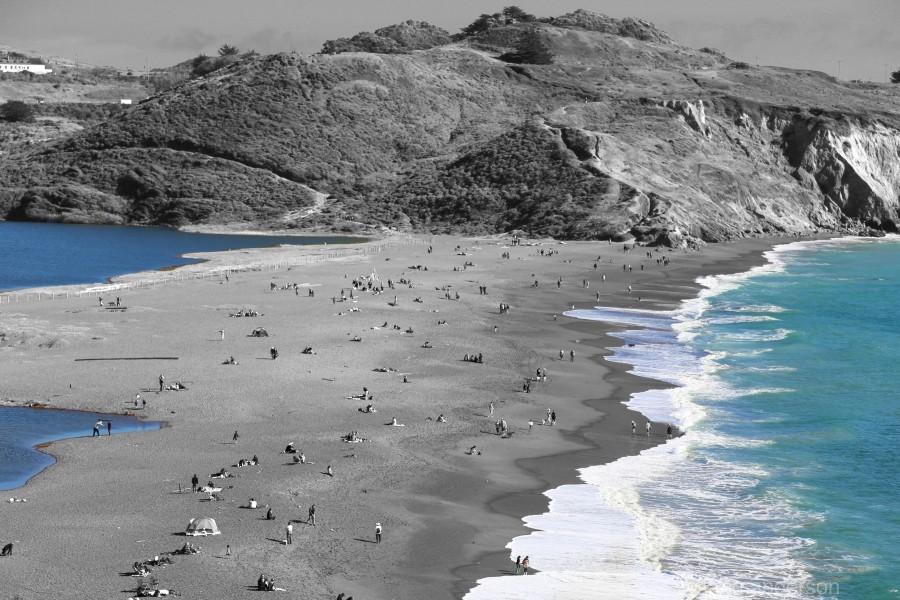 2 Bodies 1 Beach  Print