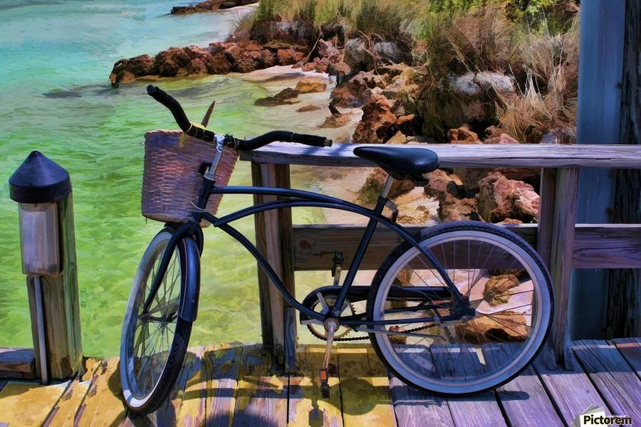 beach  bike   Print