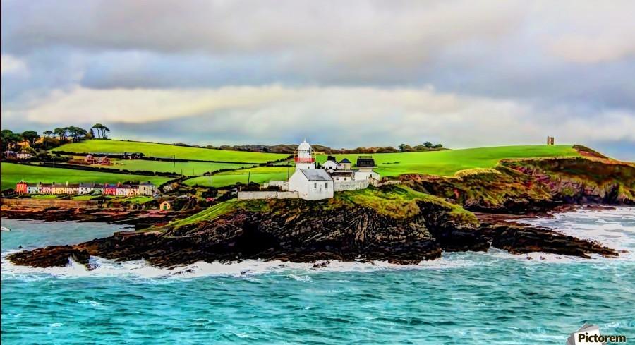 Lighthouse Cobh Ireland Paint effect  Print