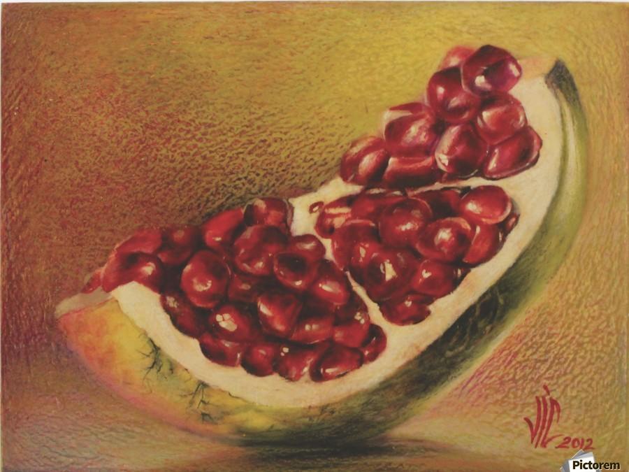 pomegranate by Vali Irina Ciobanu  Print