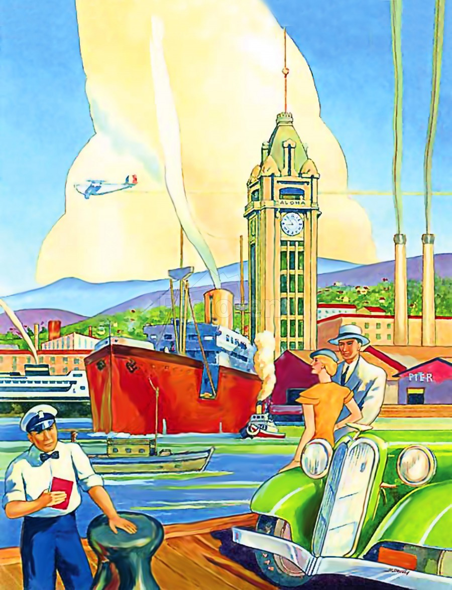 On Hawaii Port  Print
