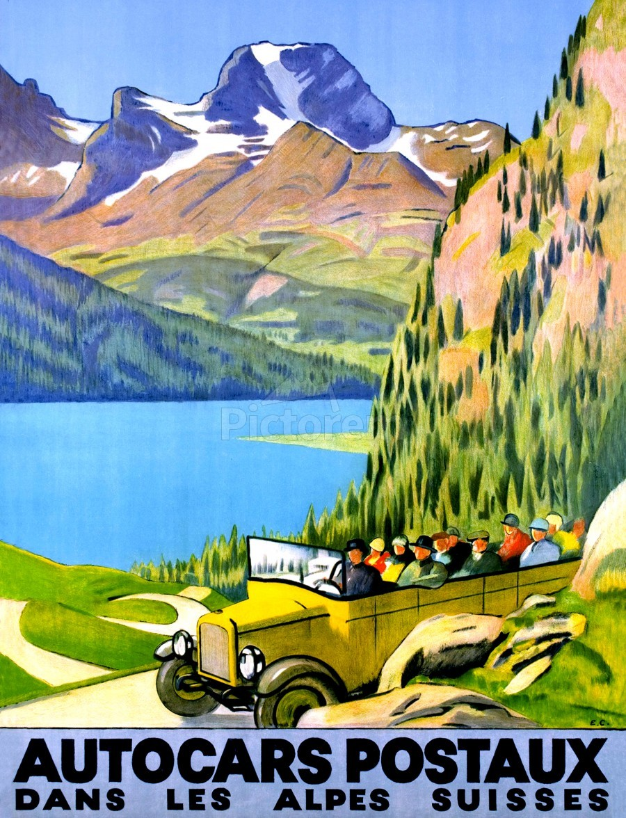 Swiss Alps by Car  Print