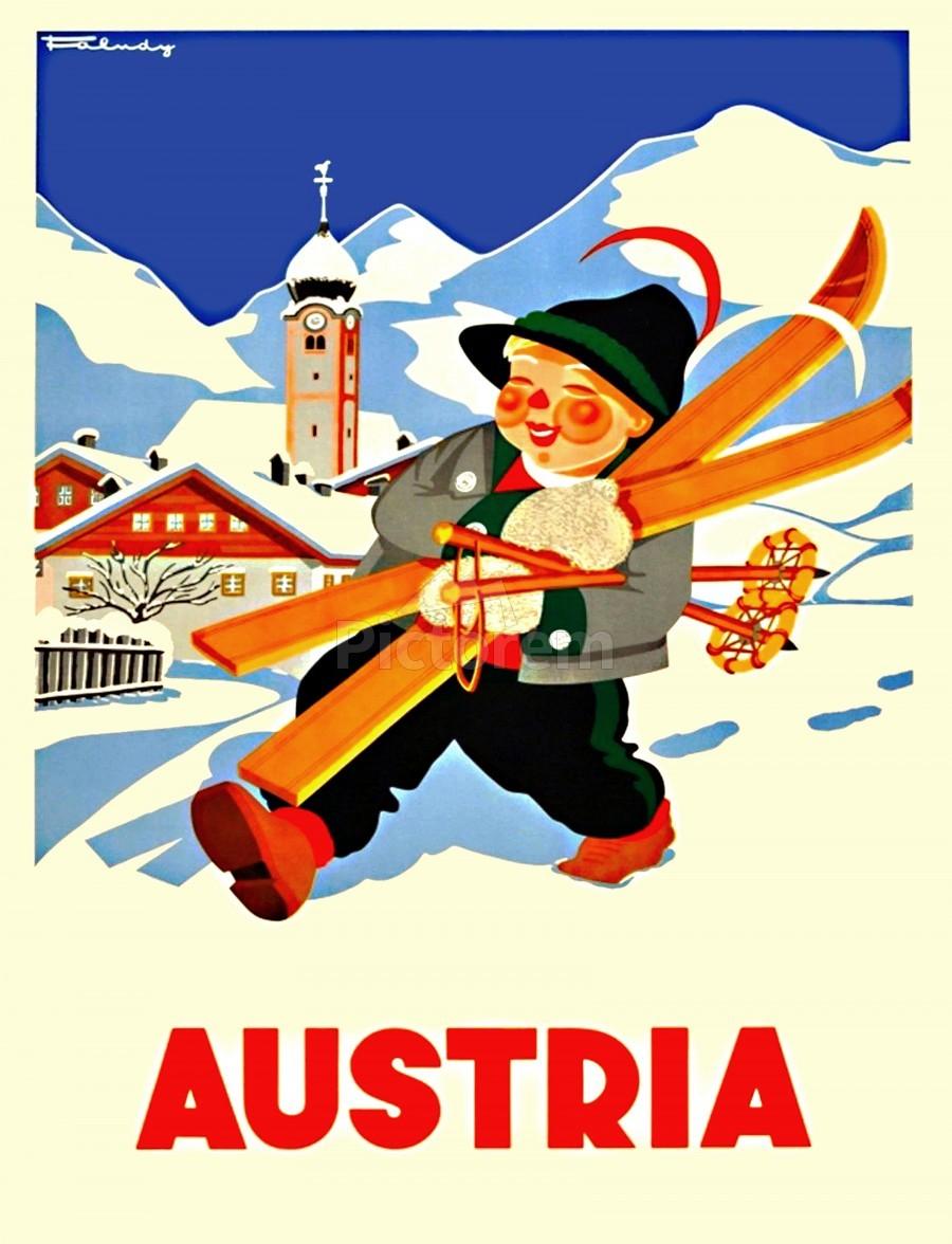 Little Skier from Austria  Print