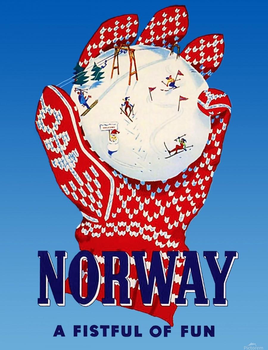 Norway Fistful of Fun  Print