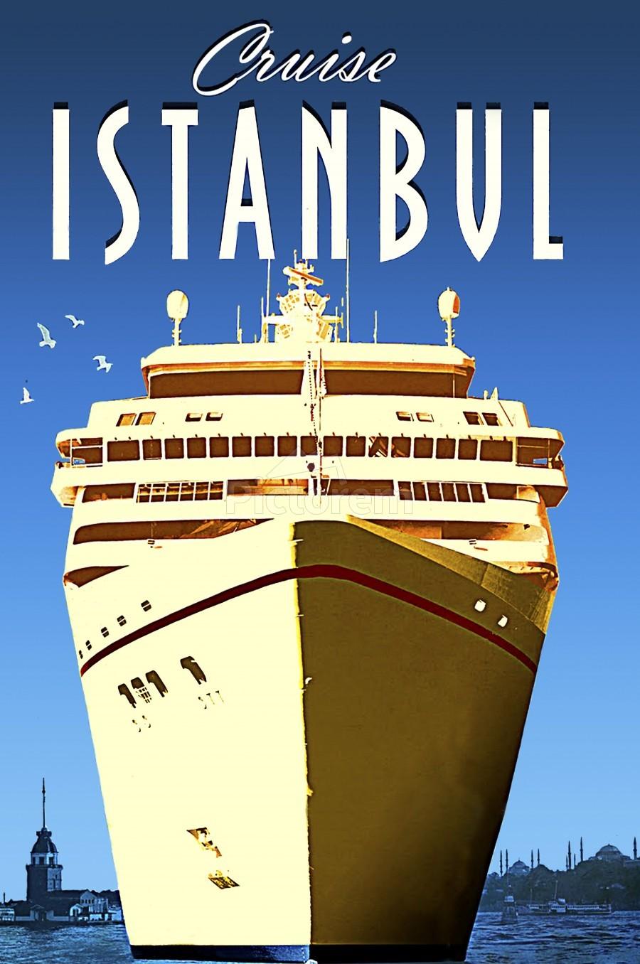Cruise Istanbul  Print