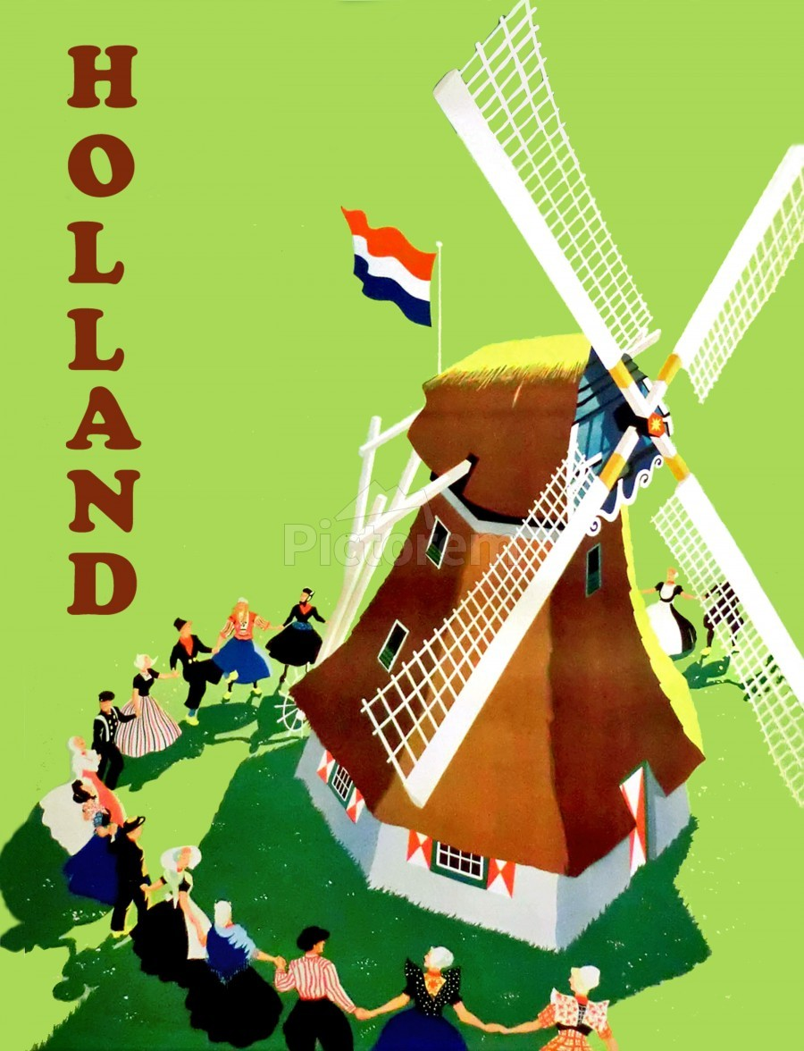 Holland Windmill  Print
