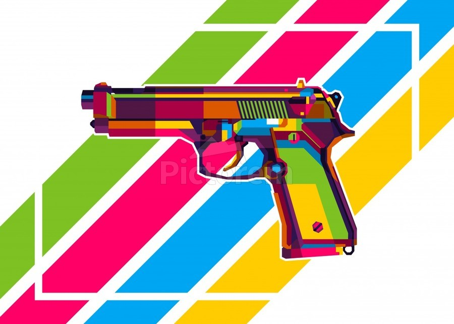 Classic Handgun  Print