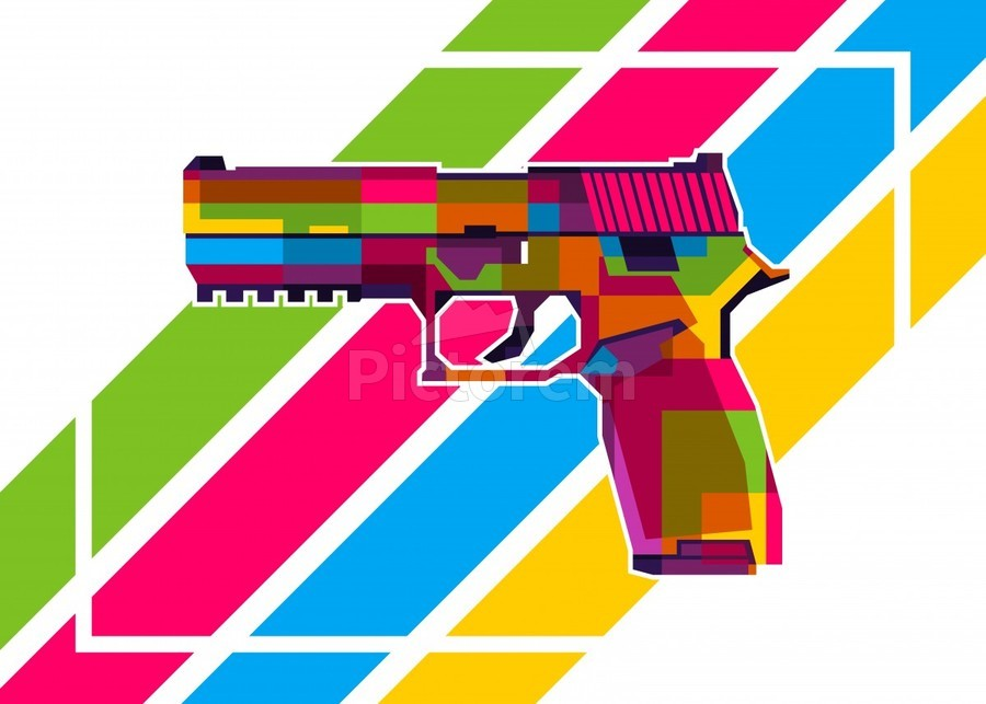 SIG P250 Handgun  Print
