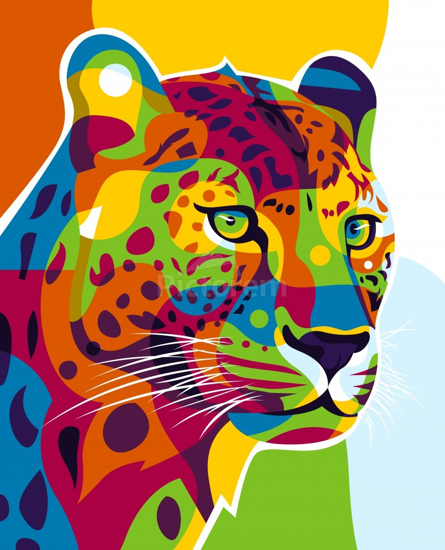 The Colorful Leopard  Print