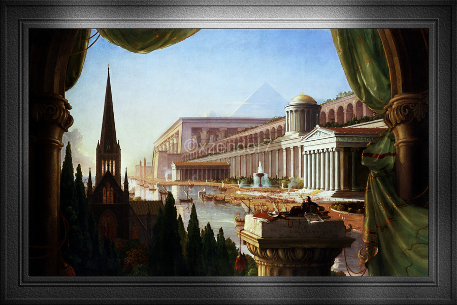 Architects Dream by Thomas Cole Classical Fine Art Xzendor7 Old Masters Reproductions  Print