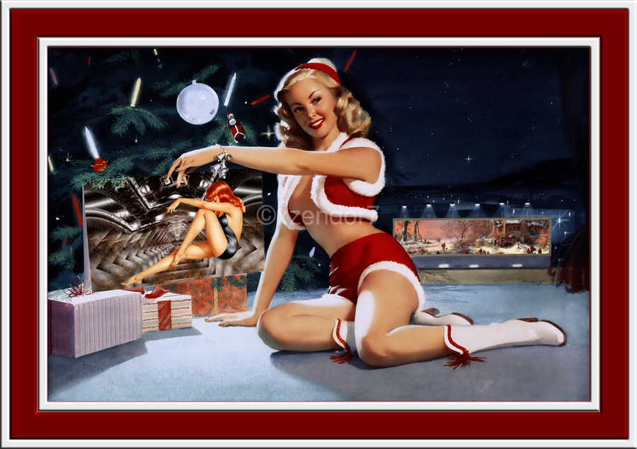 Christmas Pinup by Bill Medcalf Art Old Masters Xzendor7 Reproductions  Print