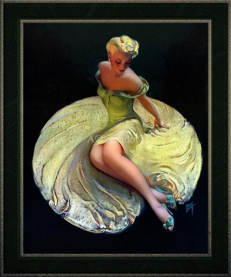 Golden Girl by Roy Best Vintage Illustration Xzendor7 Art Reproductions  Print