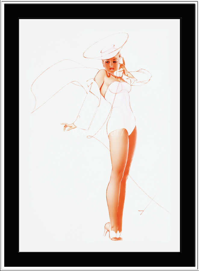 I Know What He Wants for Fathers Day by George Petty Pin-up Girl Vintage Art  Print