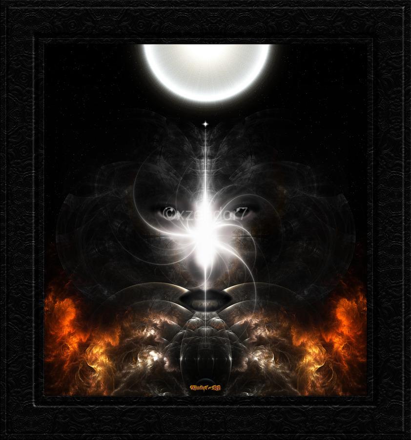 Isis Revealed Mystical Fractal Art Composition by Xzendor7  Print