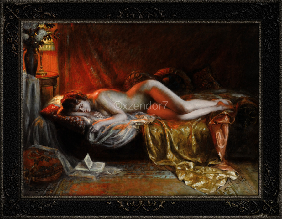 Just Finishing Reading A Novel by Delphin Enjolras Classical Art Xzendor7 Old Masters Reproductions  Print