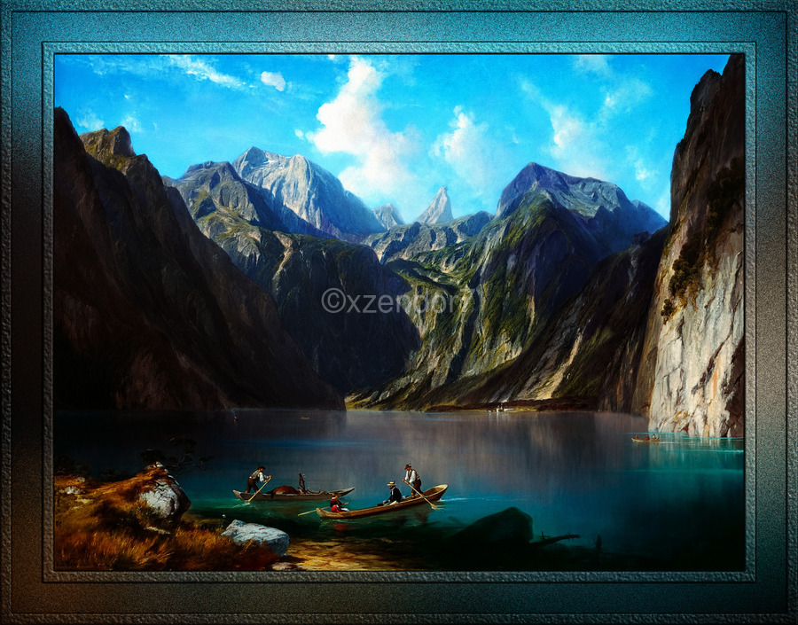 Konigsee c1873 by Willibald Wex Classical Fine Art Xzendor7 Old Masters Reproductions  Print