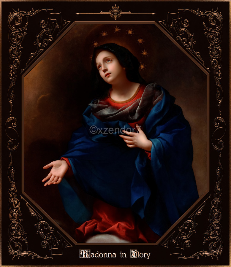 Madonna in Glory by Carlo Dolci Classical Art Xzendor7 Old Masters Reproductions  Print