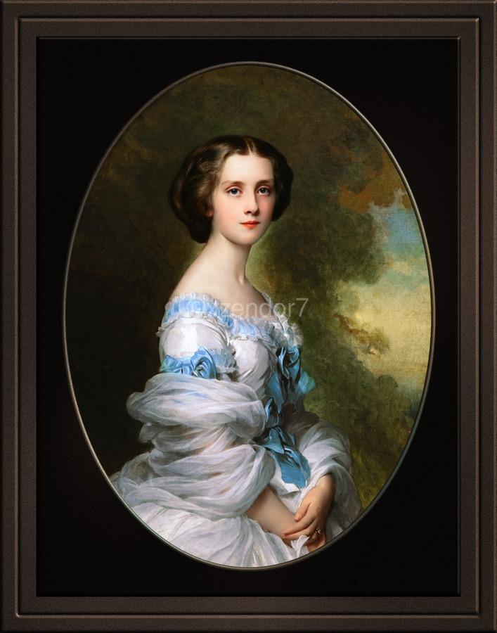 Melanie Renouard de Bussiere by Franz-Xaver Winterhalter Fine Art Xzendor7 Old Masters Reproductions  Print