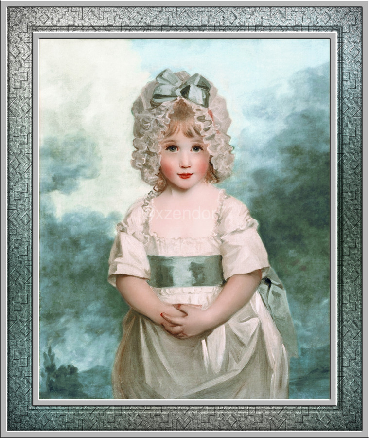 Miss Charlotte Papendick as a Child by John Hoppner Classical Art Xzendor7 Old Masters Reproductions  Print